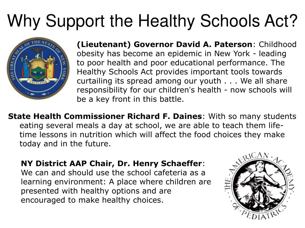 Why Support the Healthy Schools Act?
