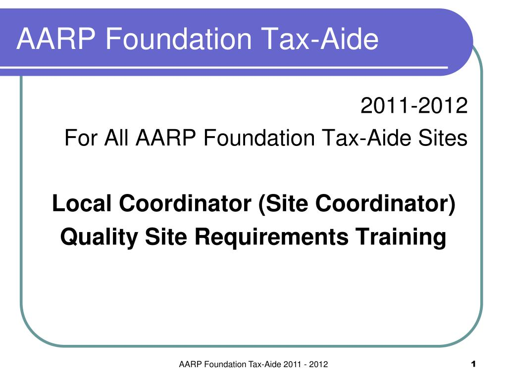 aarp foundation tax aide