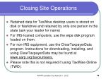 closing site operations