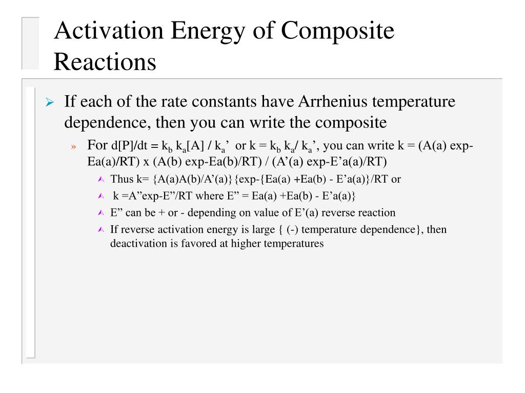 Activation Energy of Composite Reactions
