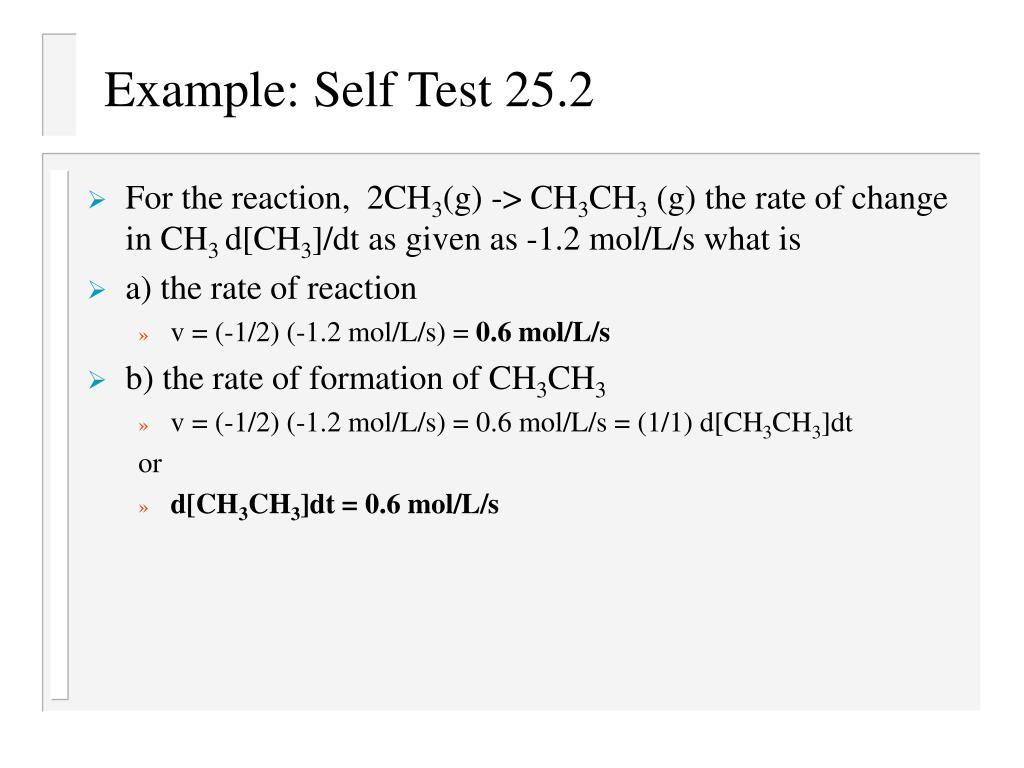 Example: Self Test 25.2