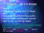 invision tm hr 3 d printer10
