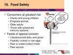 10 food safety