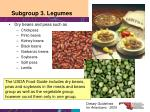 subgroup 3 legumes