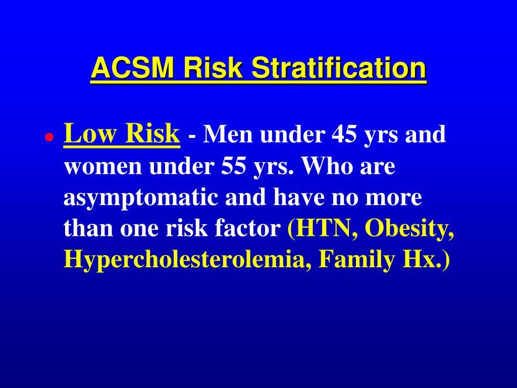ACSM Risk Stratification