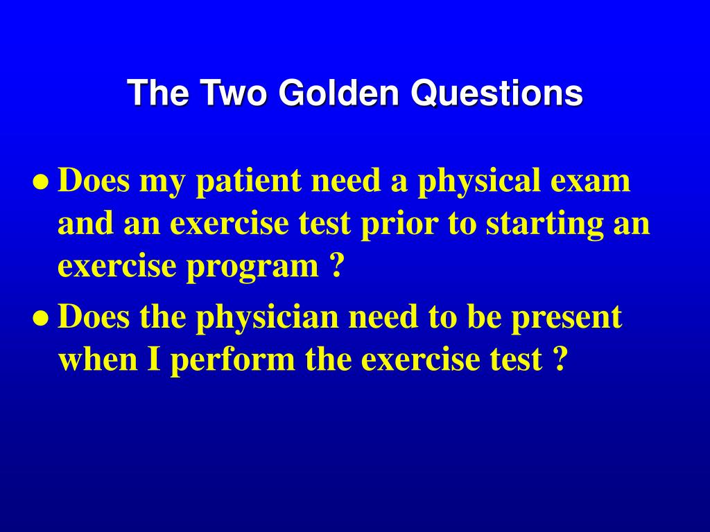 The Two Golden Questions