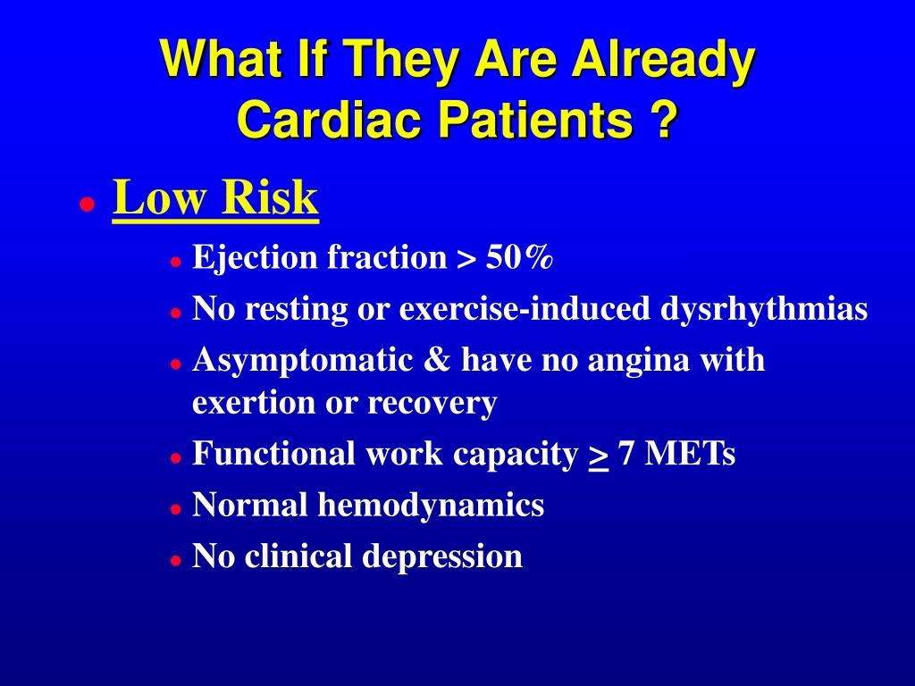 What If They Are Already Cardiac Patients ?