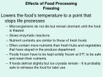 effects of food processing freezing