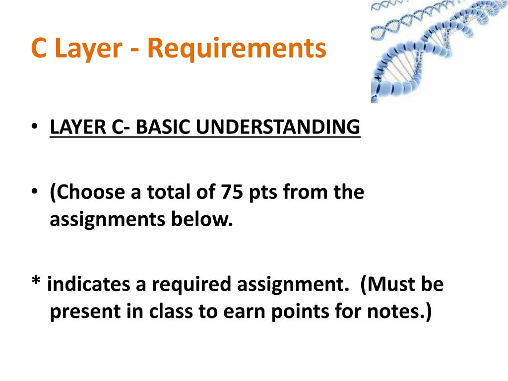 C Layer - Requirements
