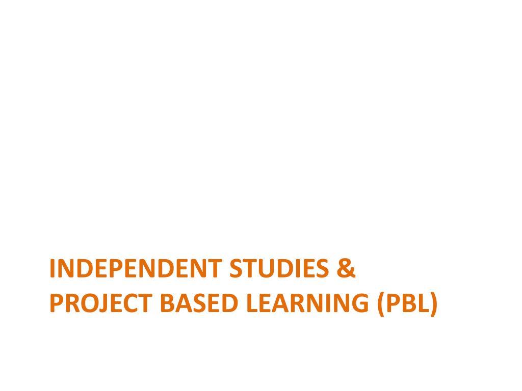 Independent Studies &