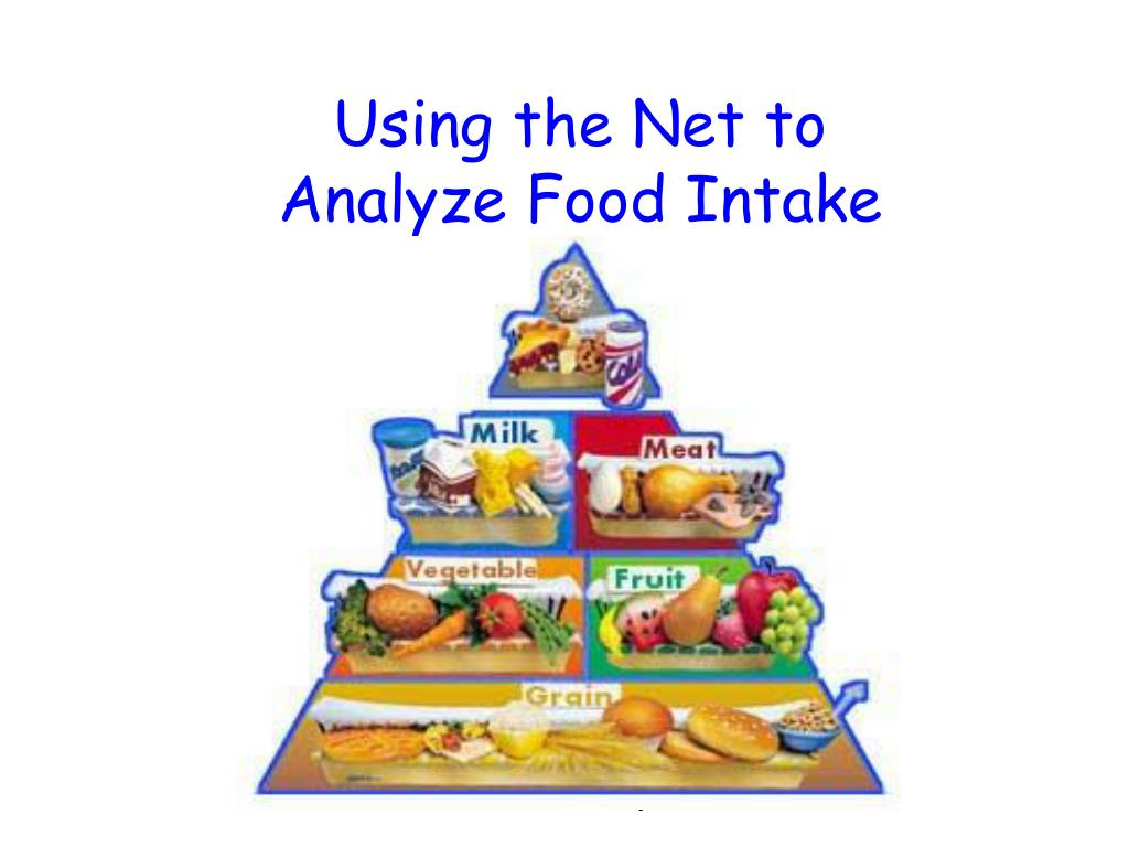 using the net to analyze food intake l.
