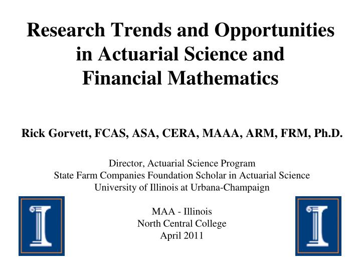 research trends and opportunities in actuarial science and financial mathematics n.