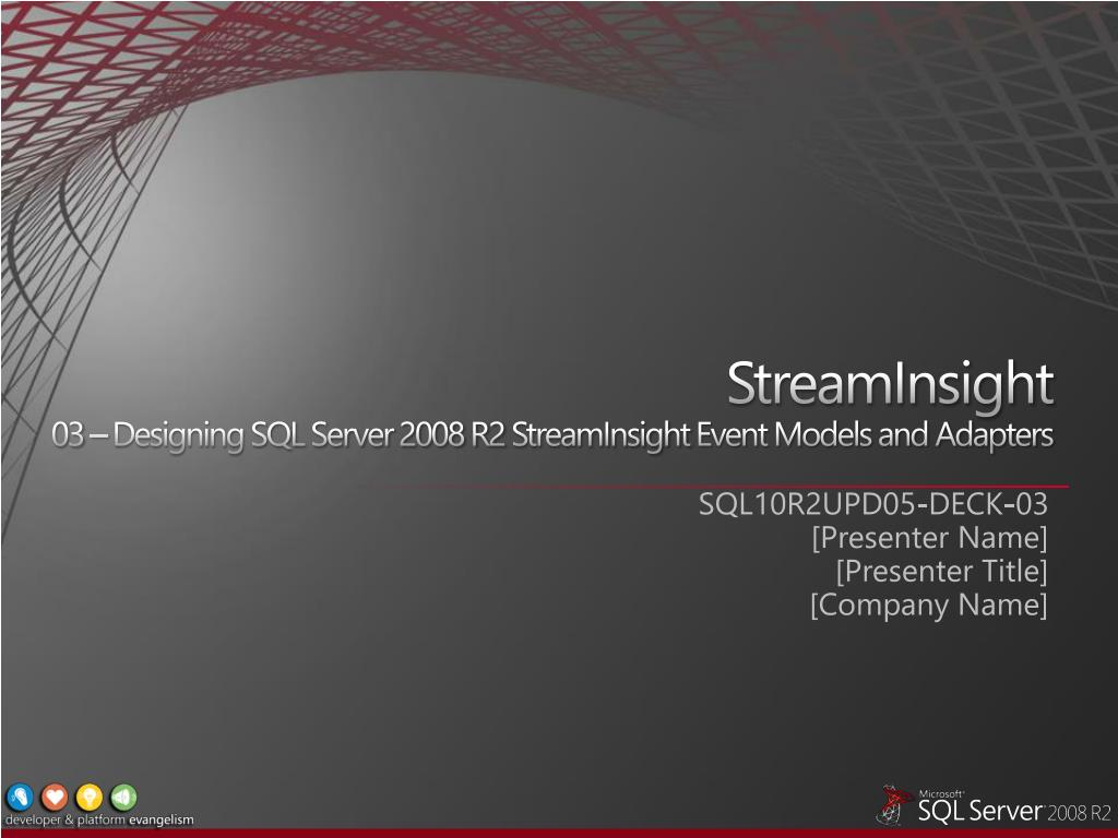 streaminsight 03 designing sql server 2008 r2 streaminsight event models and adapters