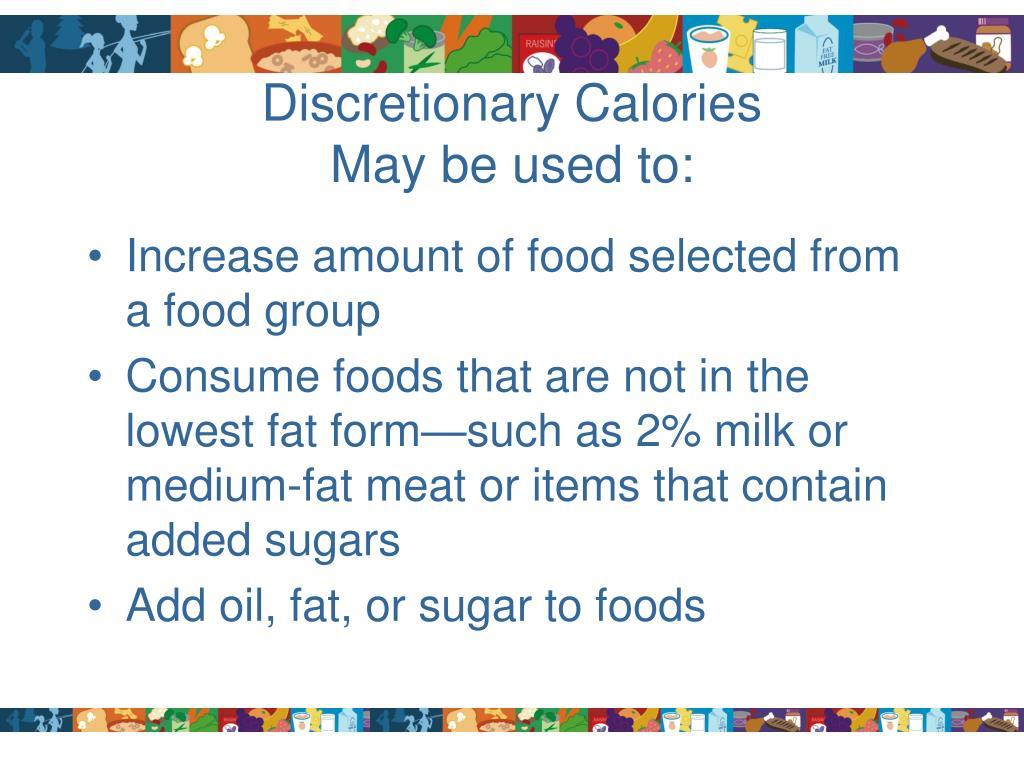 Discretionary Calories