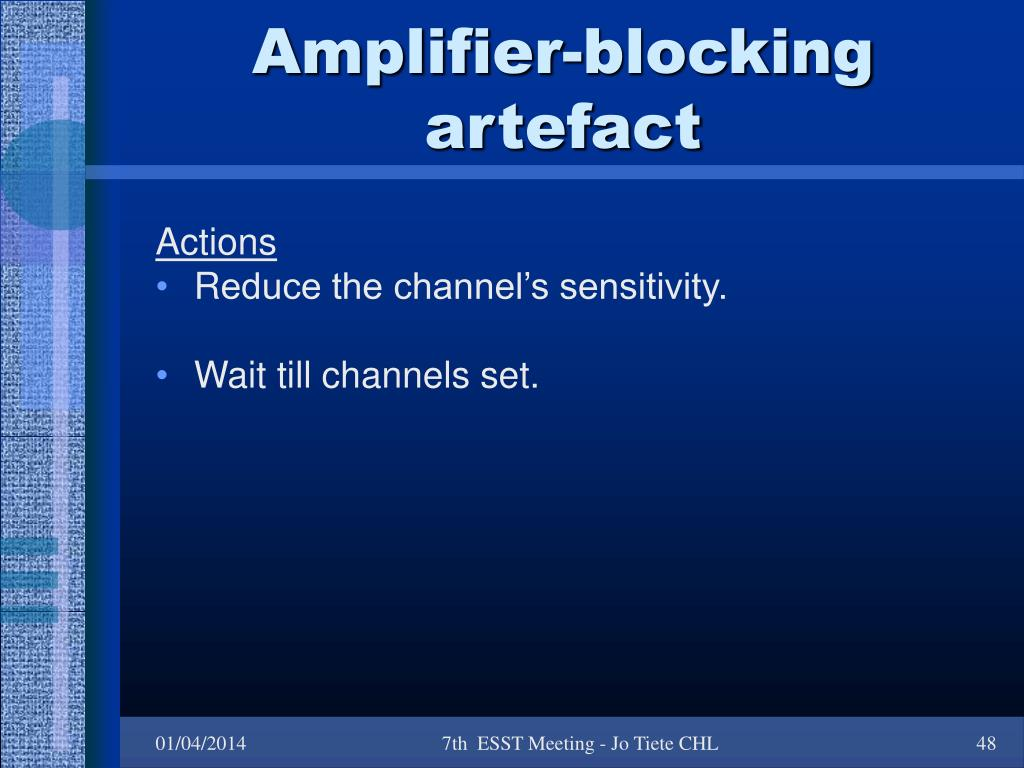 Amplifier-blocking artefact