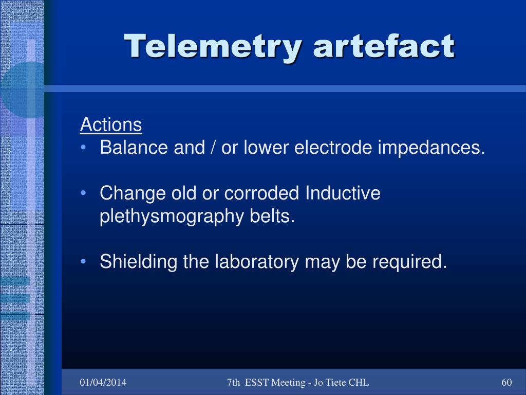 Telemetry artefact