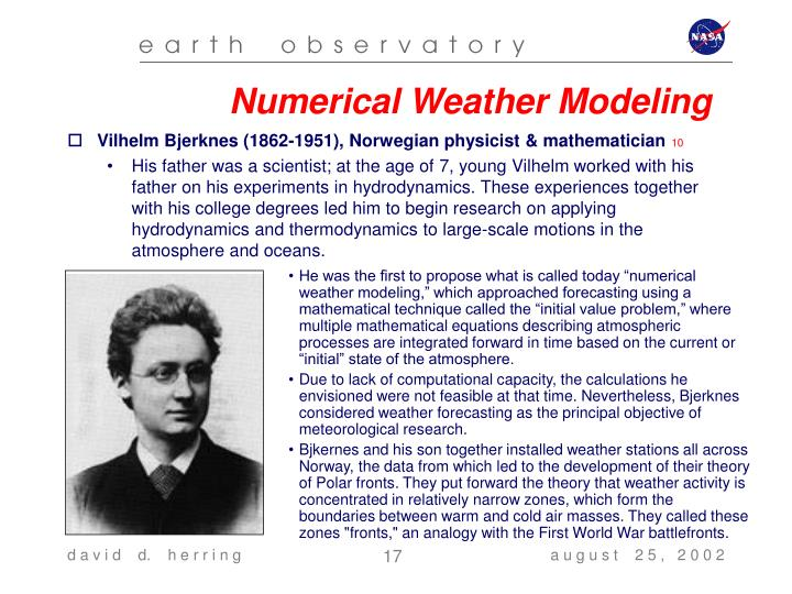 Numerical Weather Modeling