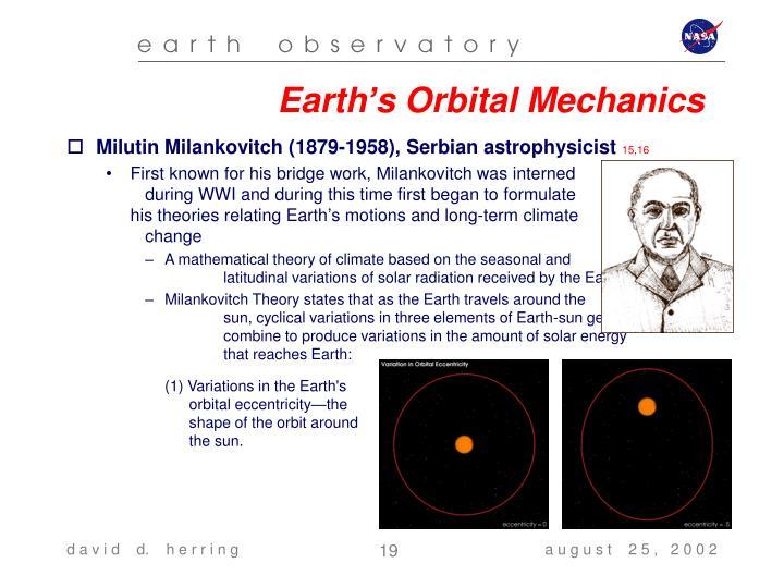 Earth's Orbital Mechanics