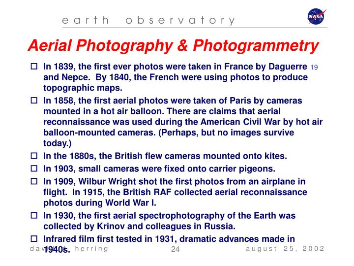 Aerial Photography & Photogrammetry