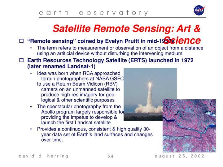 Satellite Remote Sensing: Art & Science