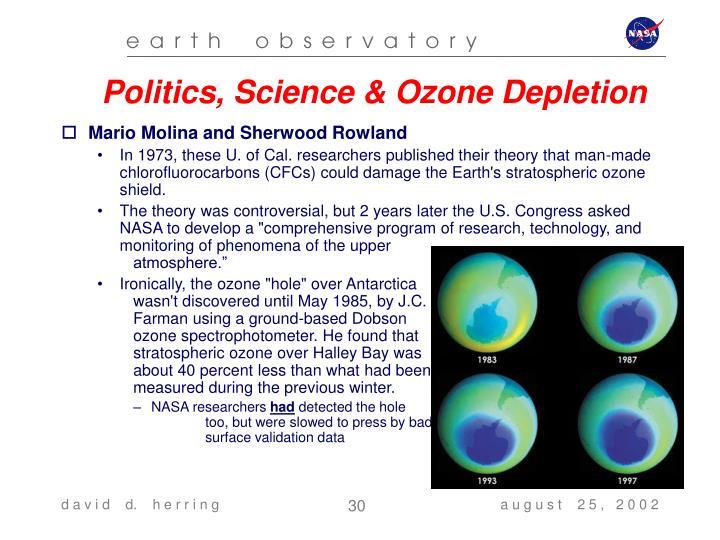 Politics, Science & Ozone Depletion