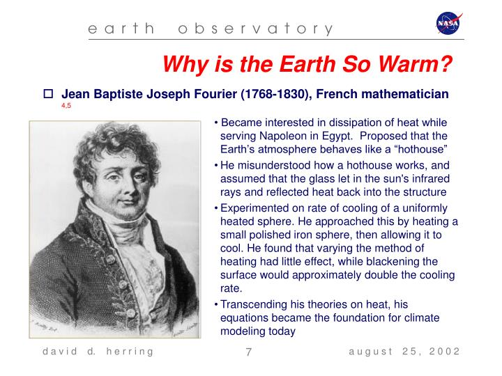 Why is the Earth So Warm?