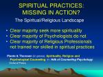 spiritual practices missing in action3