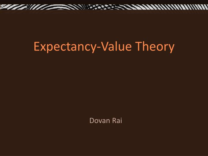 expectancy value theory n.