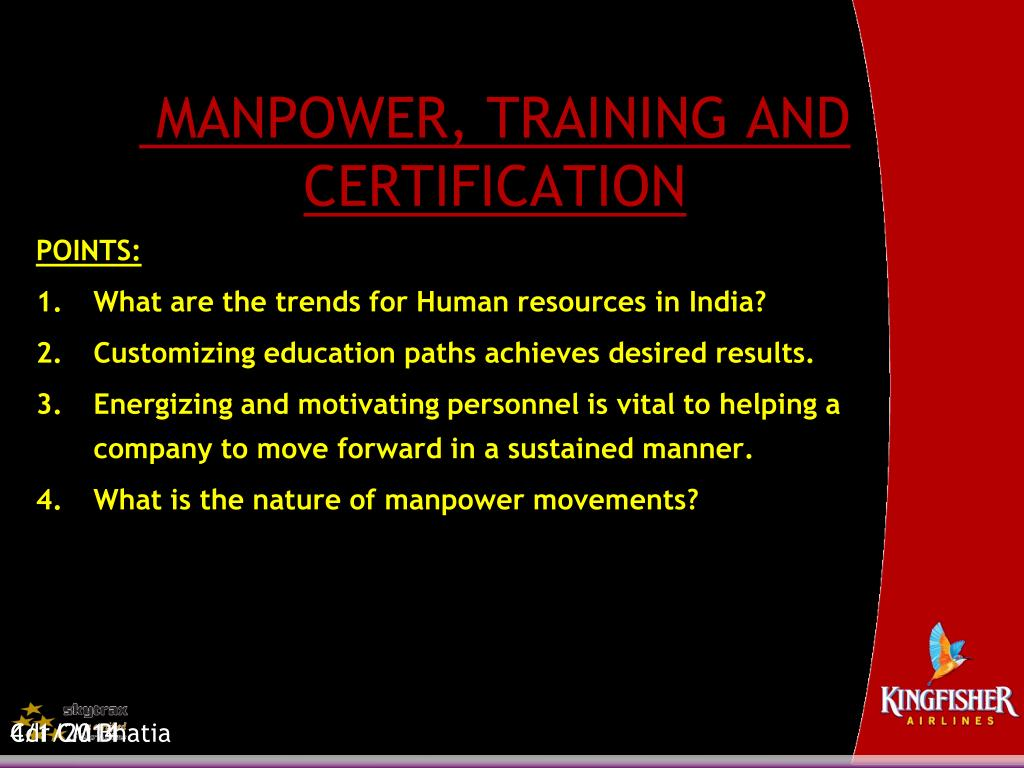 manpower training and certification l.