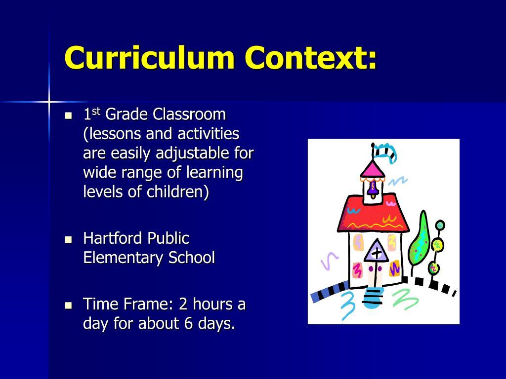 Curriculum Context: