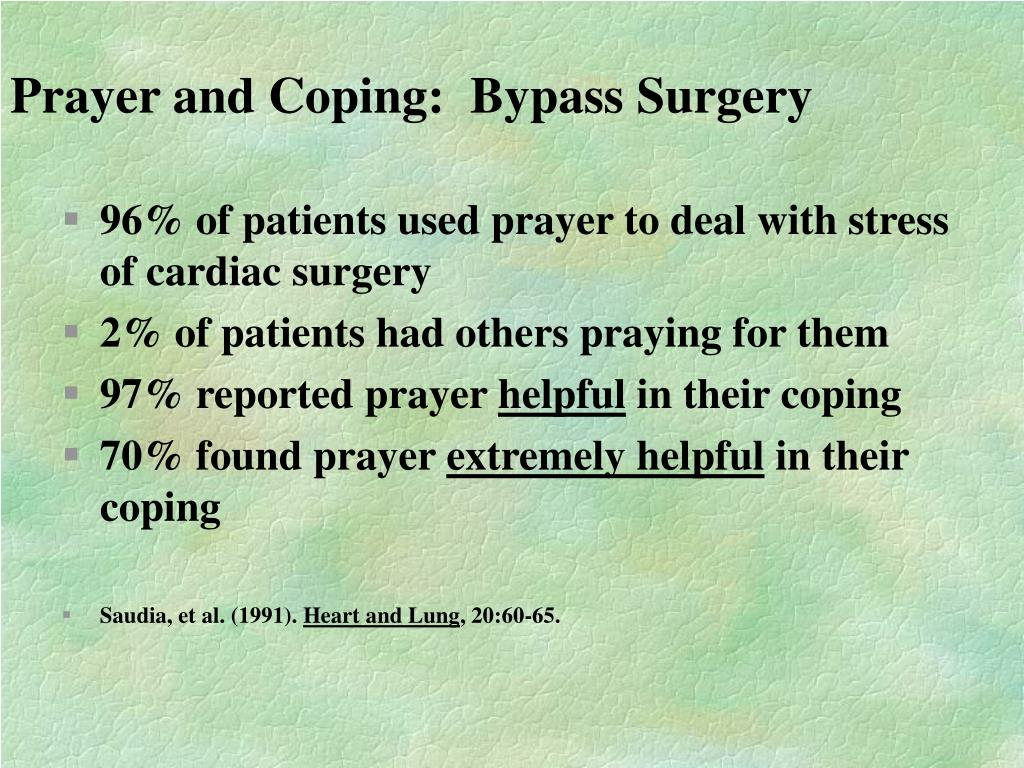 Prayer and Coping:  Bypass Surgery