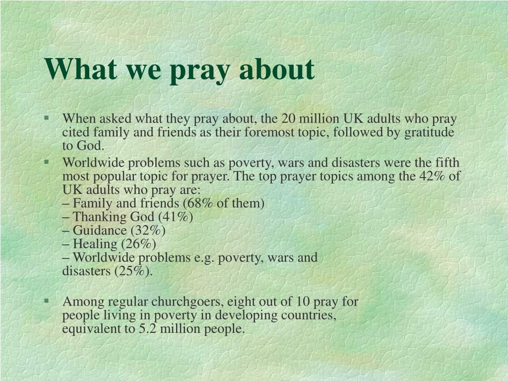 What we pray about