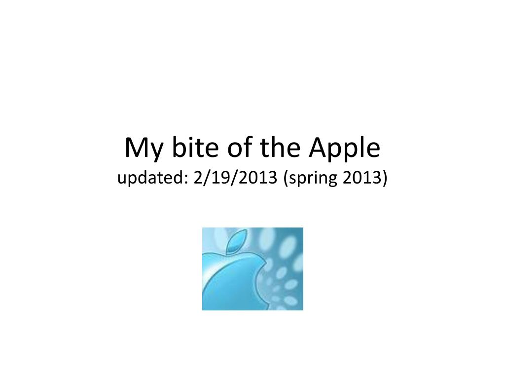 my bite of the apple updated 2 19 2013 spring 2013 l.