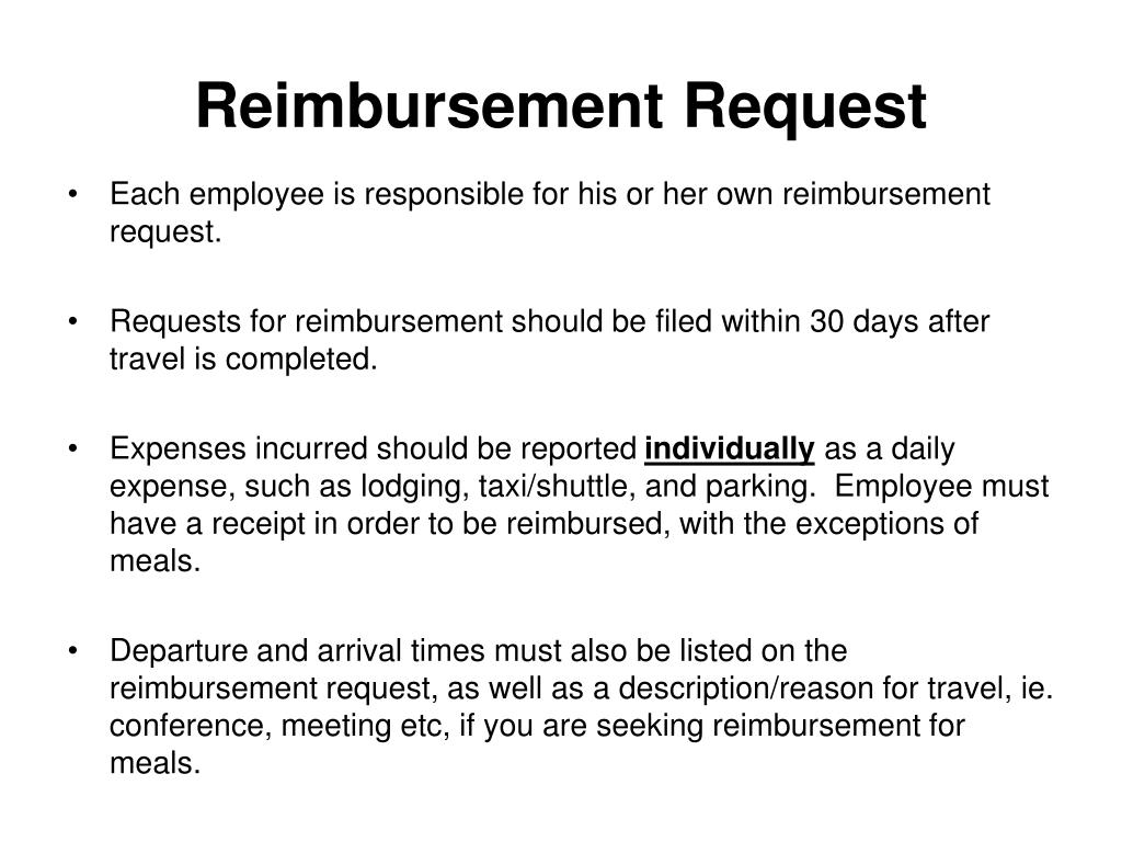 Reimbursement Request