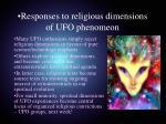 responses to religious dimensions of ufo phenomeon