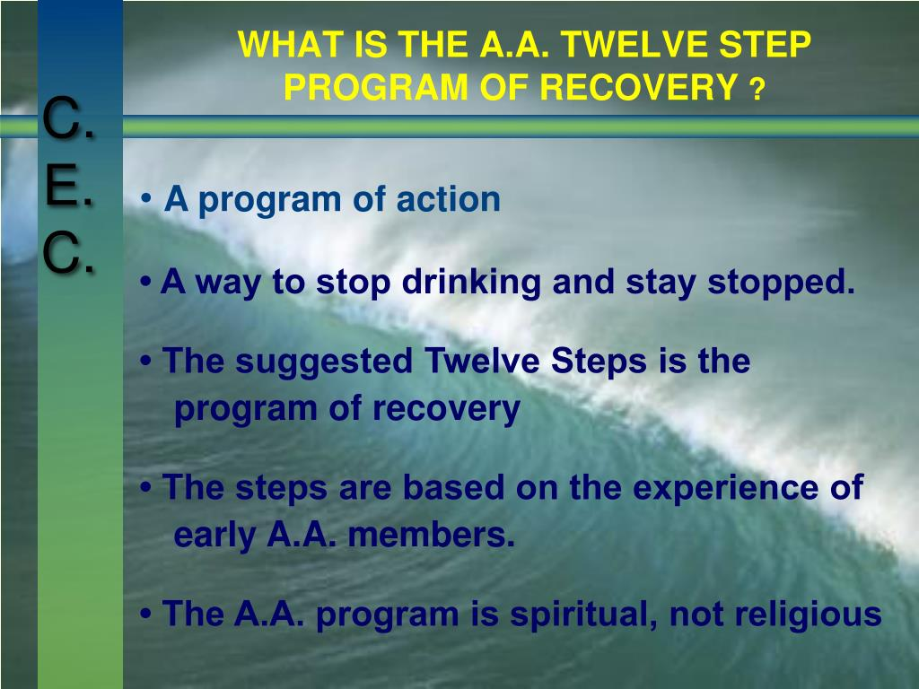 WHAT IS THE A.A. TWELVE STEP