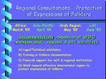 regional consultations protection of expressions of folklore