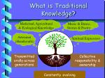 what is traditional knowledge
