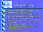 wipo s response