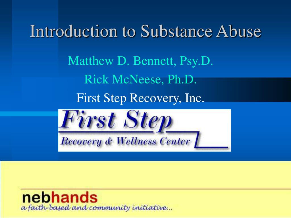 introduction to substance abuse l.