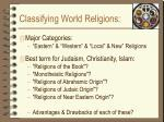 classifying world religions