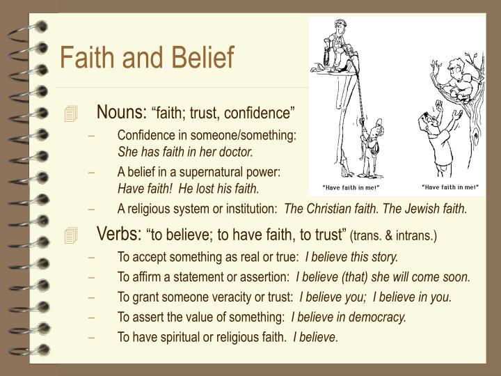 Faith and belief