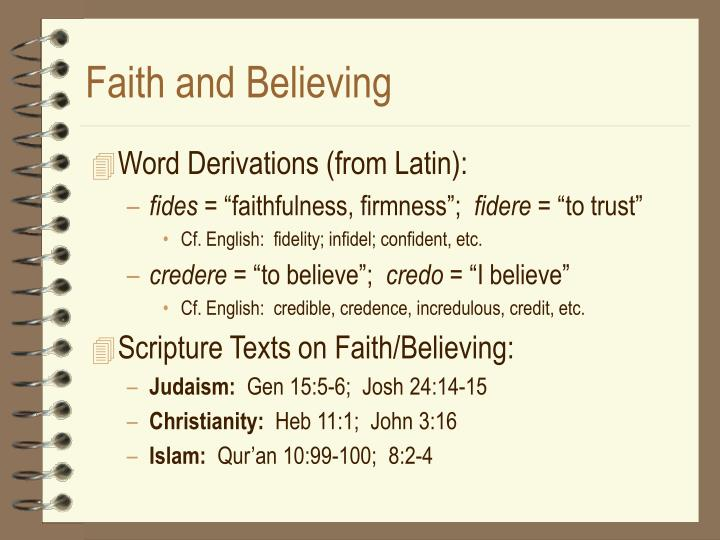 Faith and believing