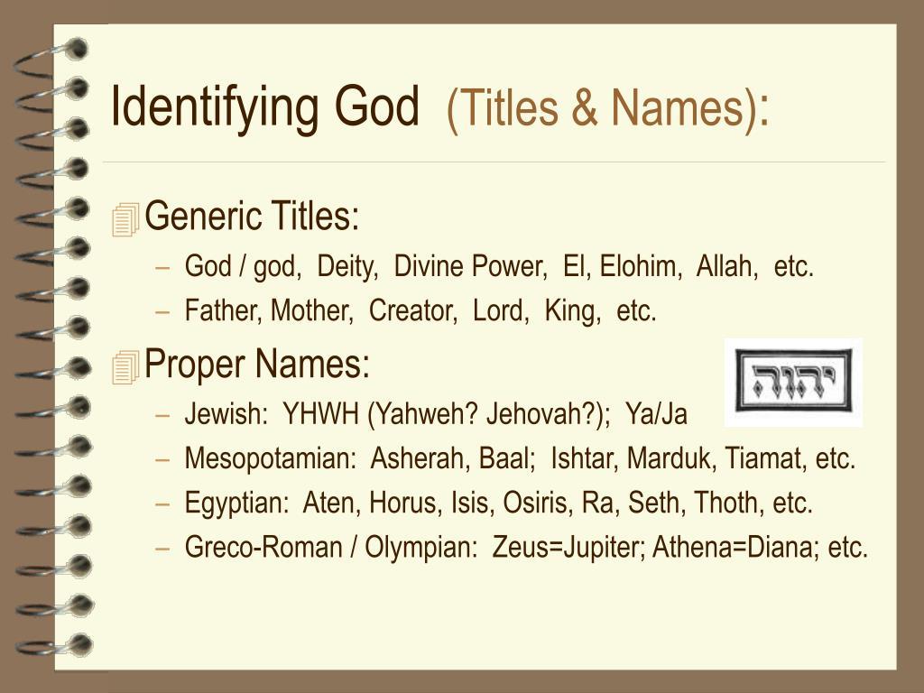 Identifying God
