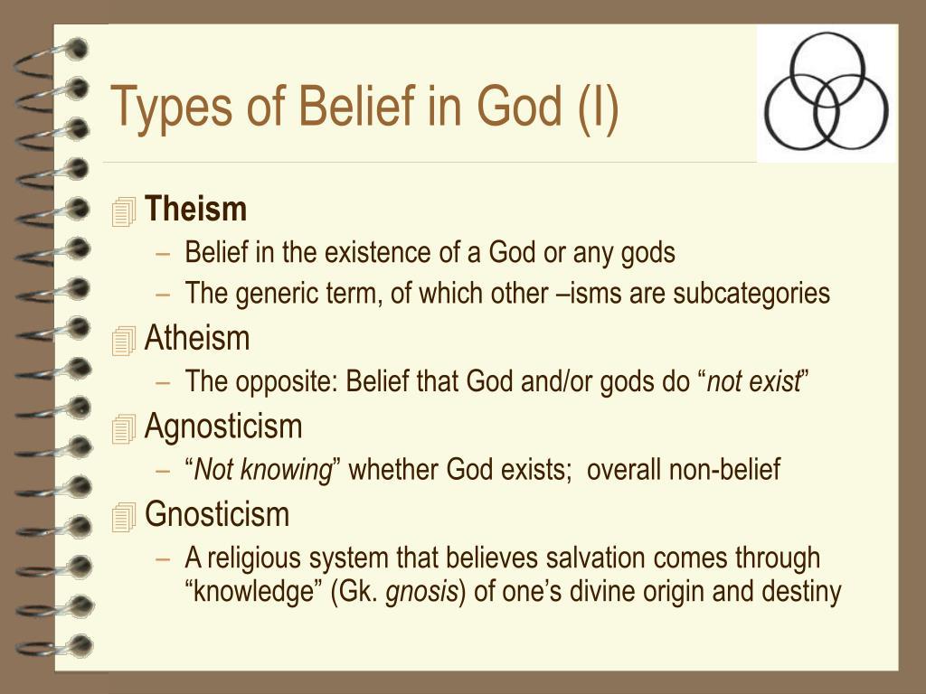 Types of Belief in God (I)