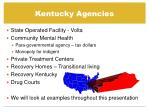 kentucky agencies