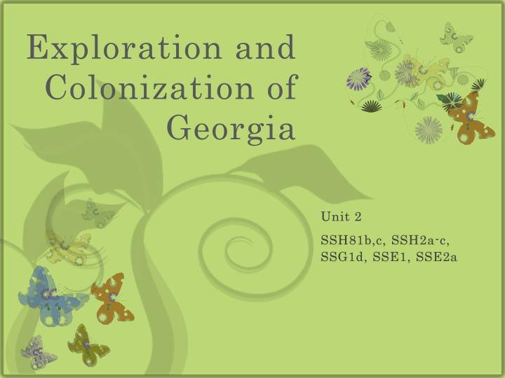 exploration and colonization of georgia n.