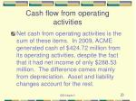 cash flow from operating activities20