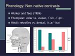 phonology non native contrasts