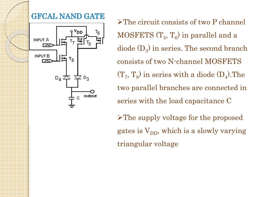 The circuit consists of two P channel MOSFETS (T